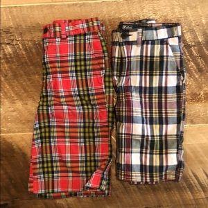 Boys plaid Polo short bundle